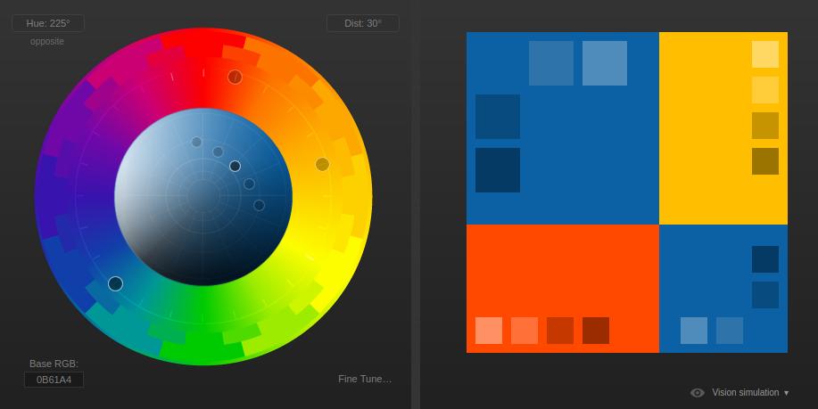 Reflective Data Color Triad