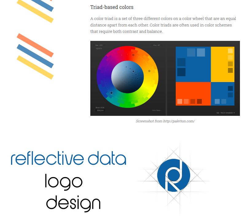Screenshot of Reflective Data Design Guide