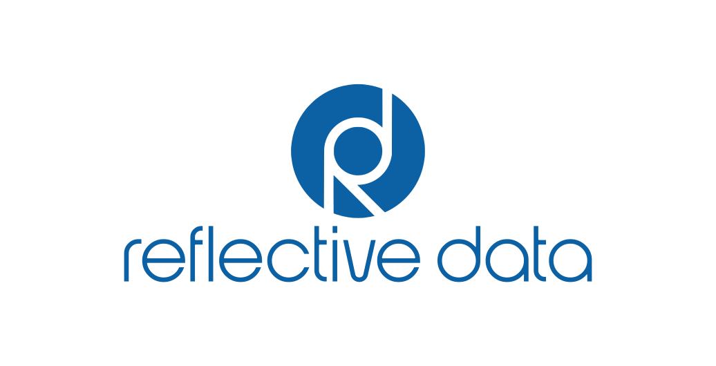 Reflective Data Logo on White Background