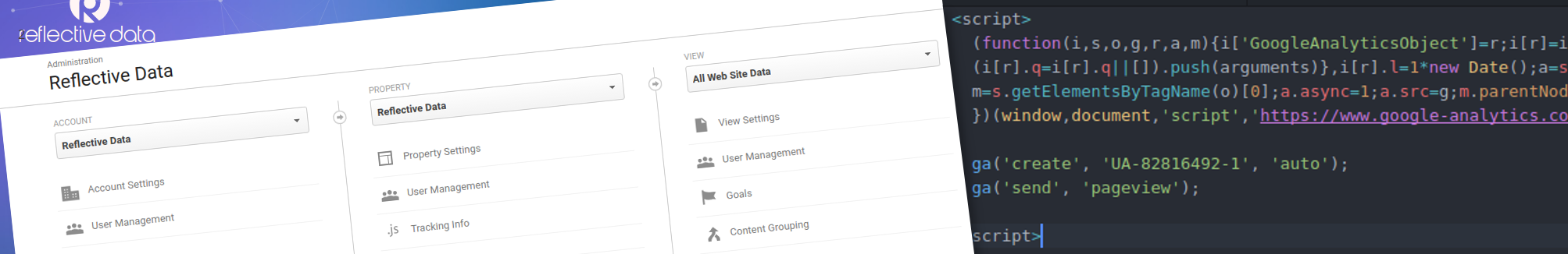 Reflective Data Setting Up Google Analytics