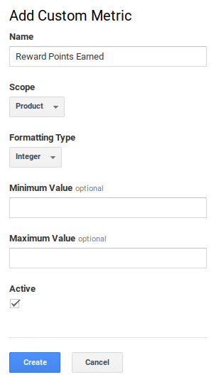 Filled Google Analytics Custom Metric