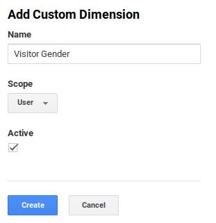 Filled Google Analytics Custom Dimension