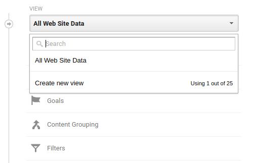 Creating new Google Analytics View