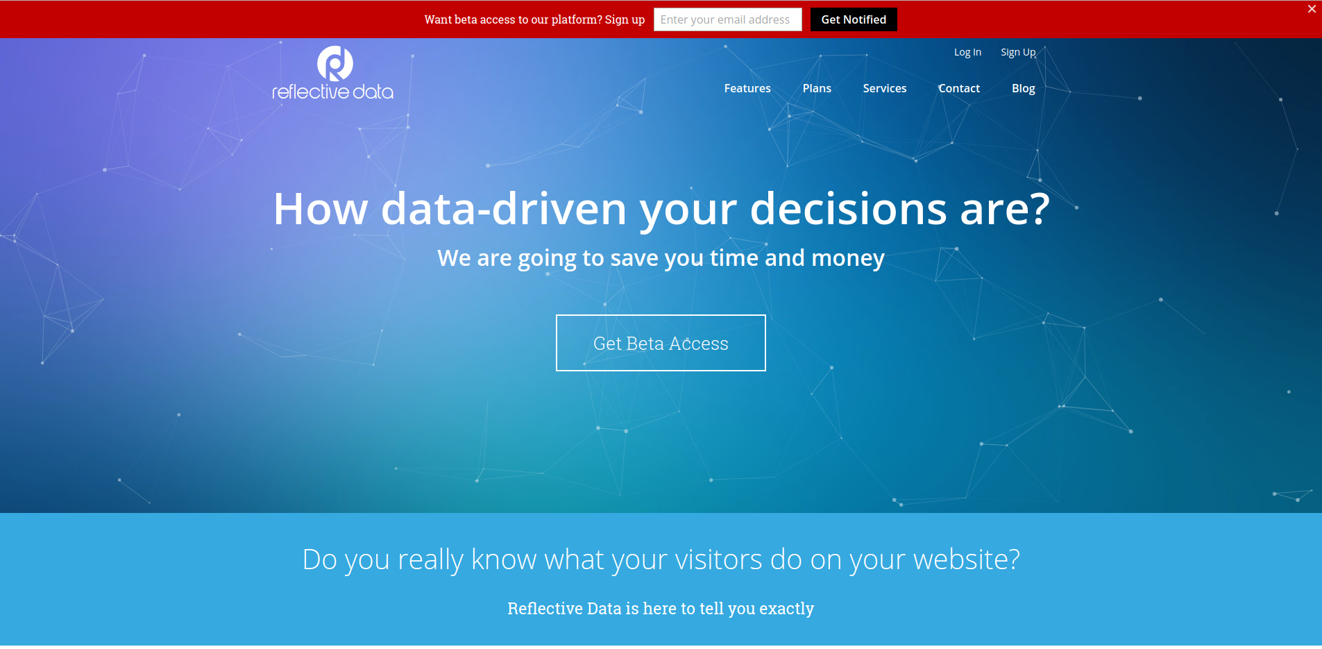 Reflective Data Homepage Test
