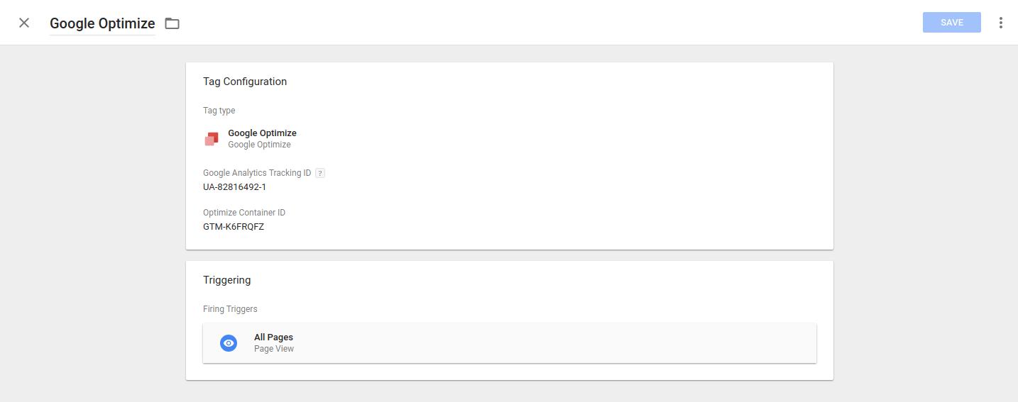 Google Optimize GTM Integration
