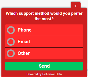 Custom Color Scheme On-Site Poll