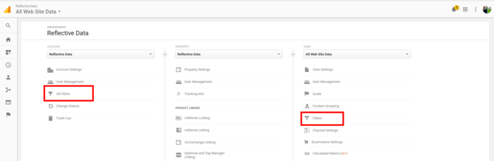 Creating Google Analytics Filters