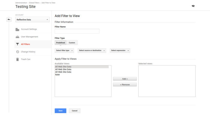 Google Analytics Filter Wizard