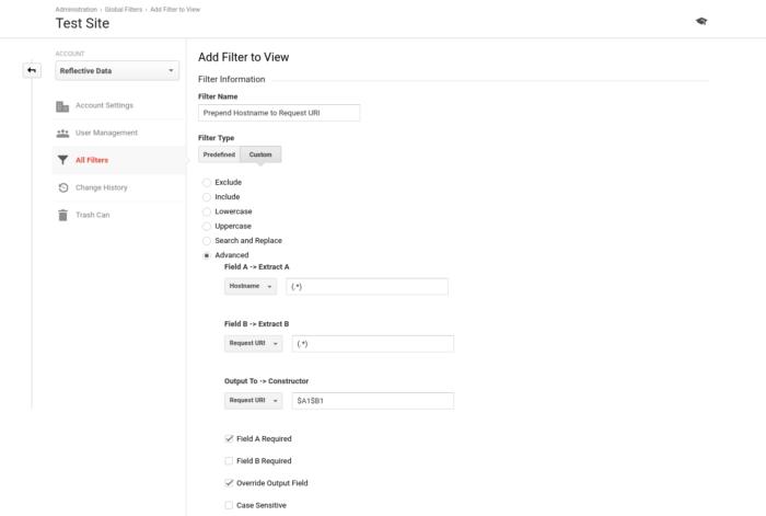 Prepend Hostname to Request URI Filter