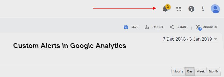 Custom Alerts in Google Analytics