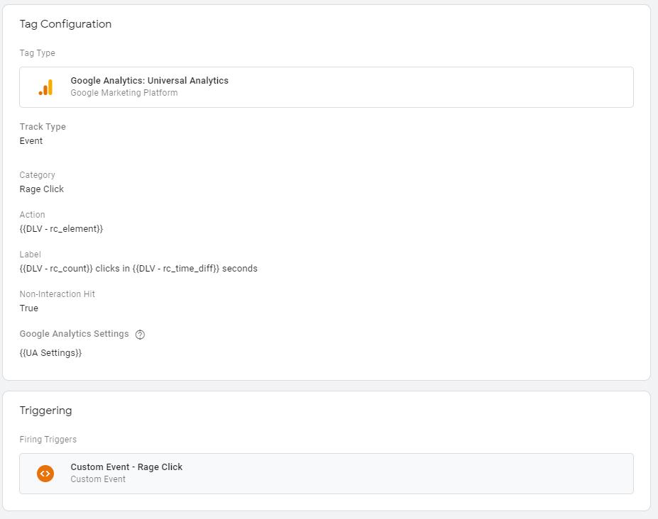 Send rage click to Google Analytics